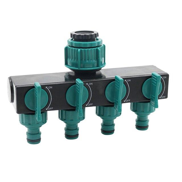"""1/2 """"-3/4""""-1 """"шланг разветвители адаптер для орошения 4-способ соединители водяного шланга Европейский стандарт резьба соединители для крана 1 шт."""