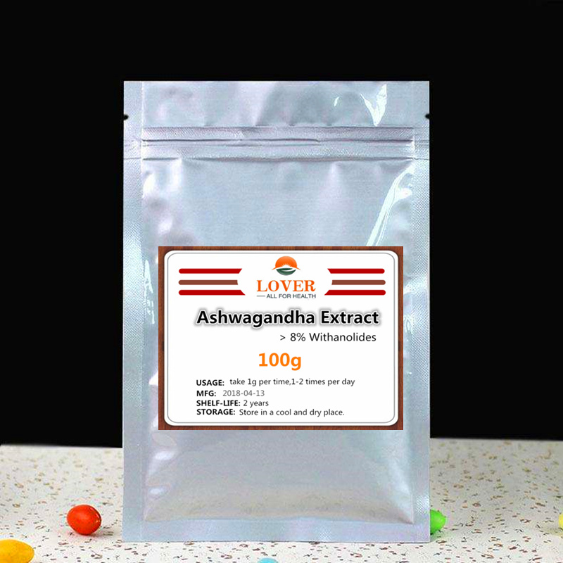 100g-1000g 100% Pure Ashwagandha Root Extract Powder,>8% Withanolides, (Withania somnifera),Positive Mood Support,Anti Stress все цены