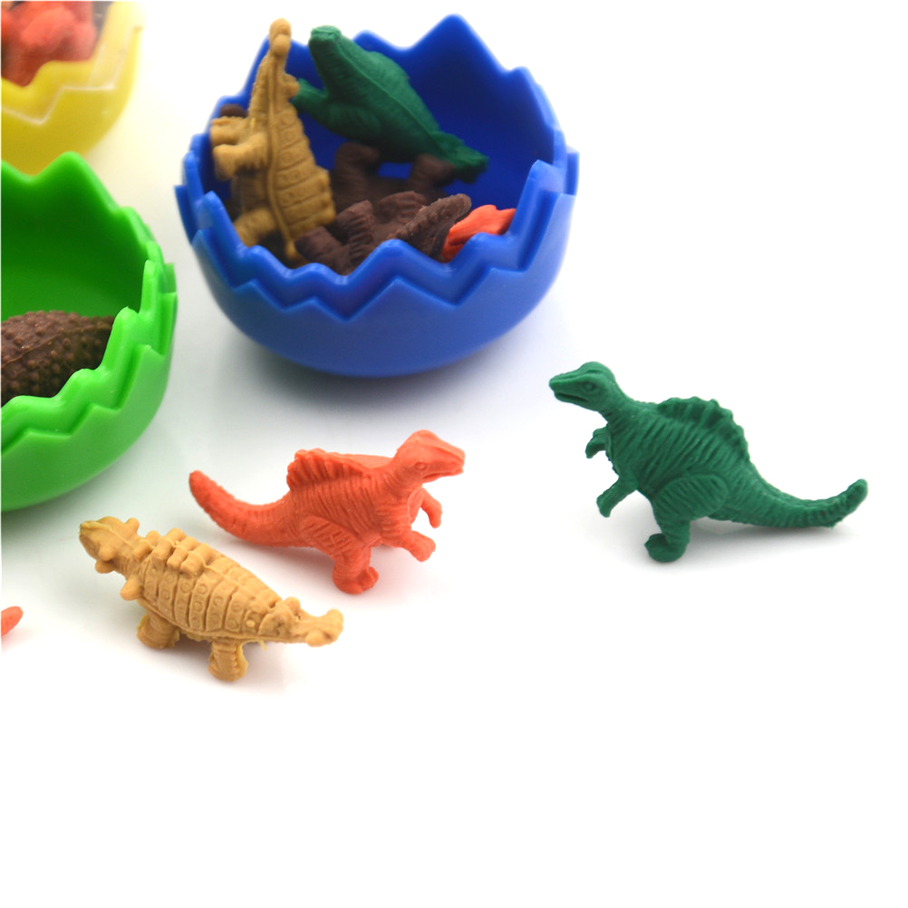 Eraser Devoted 8 Pcs/lot Creative Dinosaur Eraser Mini Kawaii Erase For Kids Gift Korean Stationery Student Bringing More Convenience To The People In Their Daily Life