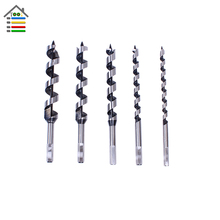 5pcs Hex Spiral Auger Drill Bit Set Brad point Drill 40Cr Steel SDS Wood Drilling 10-25mm for Woodworking Free Shipping