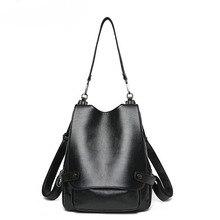 Для женщин сумка мешок Для женщин из натуральной кожи многофункциональный дамы рюкзак большой Ёмкость Повседневное школьная сумка Гирс рюкзак