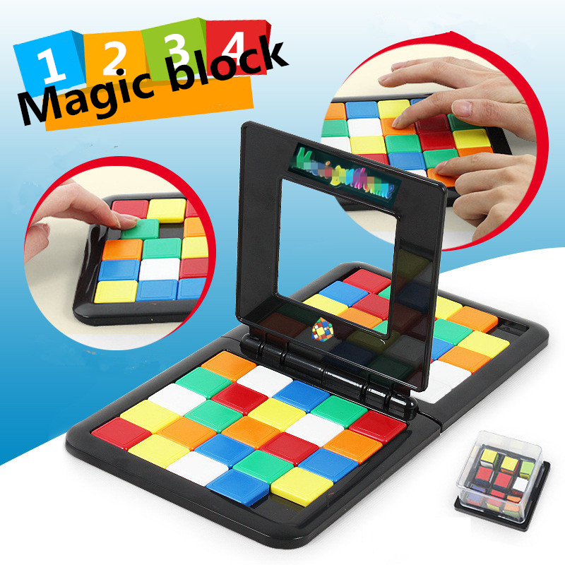 magic block game Race Board Game magic cube education Parent-child activity board For Kids Funny Family Party Game Birthday giftmagic block game Race Board Game magic cube education Parent-child activity board For Kids Funny Family Party Game Birthday gift