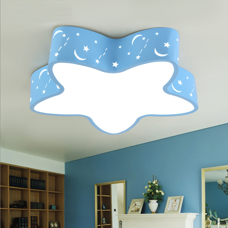 Star shape 40/50CM LED metal acrylic ceiling light boy or girl cartoon lamp for Children room bedroom living room dinning room creative cartoon baby cute led act the role ofing boy room bedroom chandeliers children room roof plane light absorption