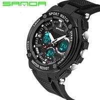 2017 Brand SANDA Sport Watch Men S Fashion LED Military Army Watch Waterproof Shockproof Diving Watch
