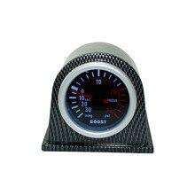 Envío libre 2 »52mm Universal Turbo Boost Gauge PSI Cara humo con Fibra De Carbono Pod car Meter auto gauge YC100966