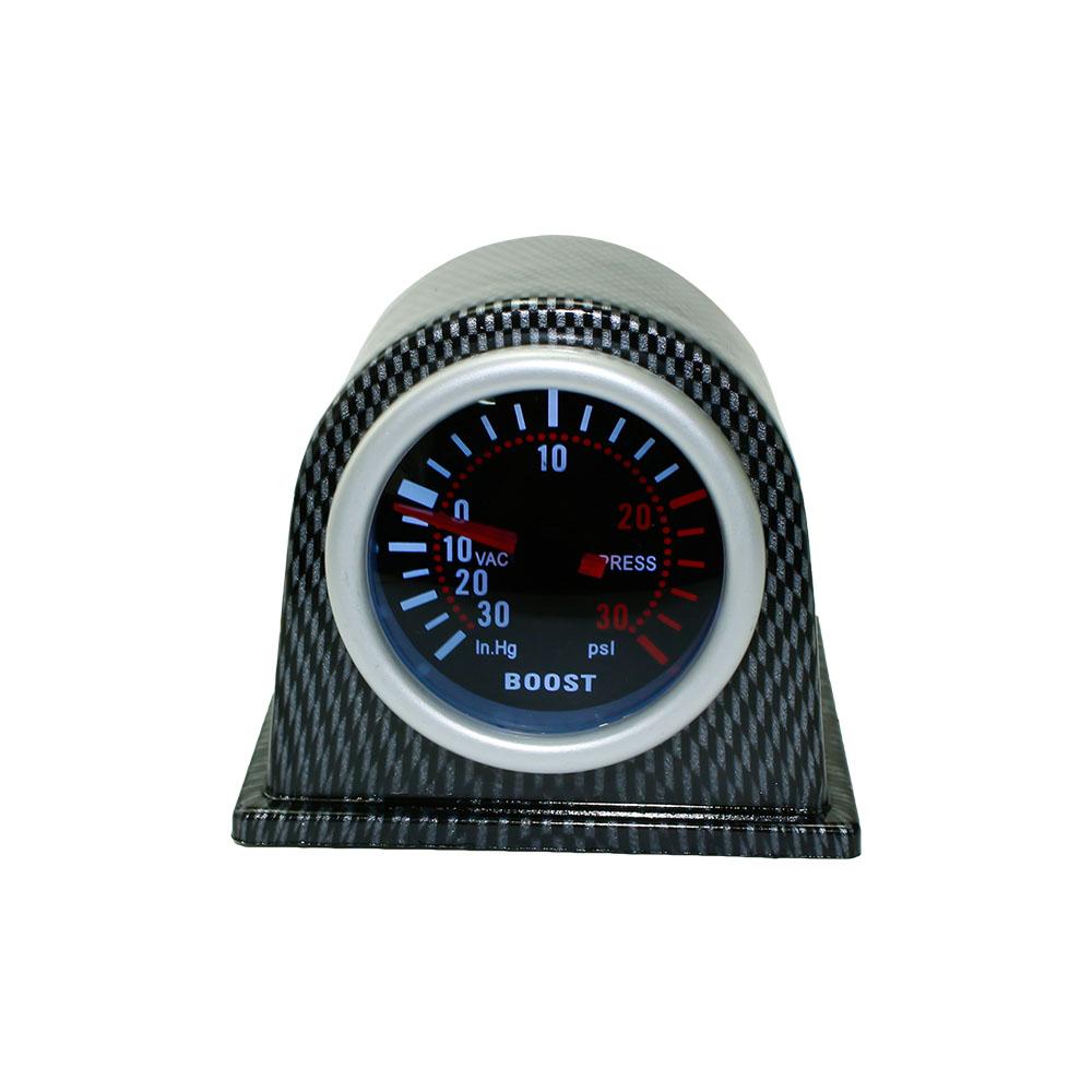 Prix pour Livraison gratuite 2 ''52mm Universal Car Turbo Boost Gauge PSI fumée Visage avec type De Fiber De Carbone Pod Voiture Indicateur Jauge Auto YC100966