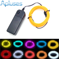 1m/2m/3m/5m Neon Light Dance Party Decor Light Neon LED lamp Flexible EL Wire Rope Tube Waterproof LED Strip With Controller