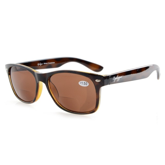 be4ba0ab38d5 R093 Bifocal Eyekepper Classic Bifocal Sunglasses Men Women (Grey  Lens/Brown Lens) +
