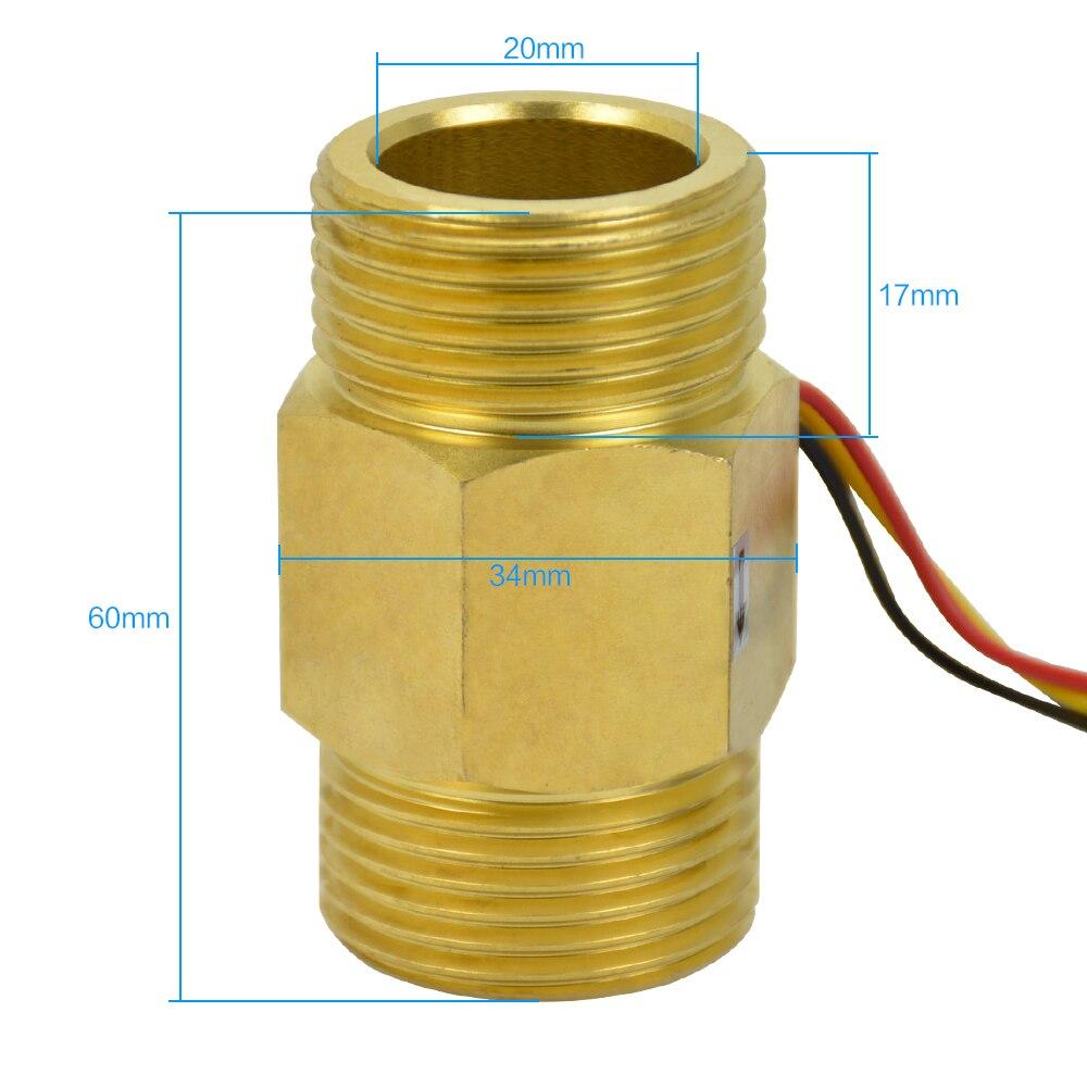 Bevorzugt Aiyima 1 Zoll Kupfer Durchflussmesser Gas Wasser Heizung mit RL96