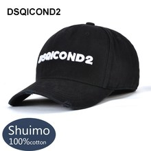 DSQICOND2 Brand Snapback Baseball Caps for Women Men New DSQ Summer Dad Hats Black Hip Hop Cap Letter ICON Bone Gorras Casquette все цены
