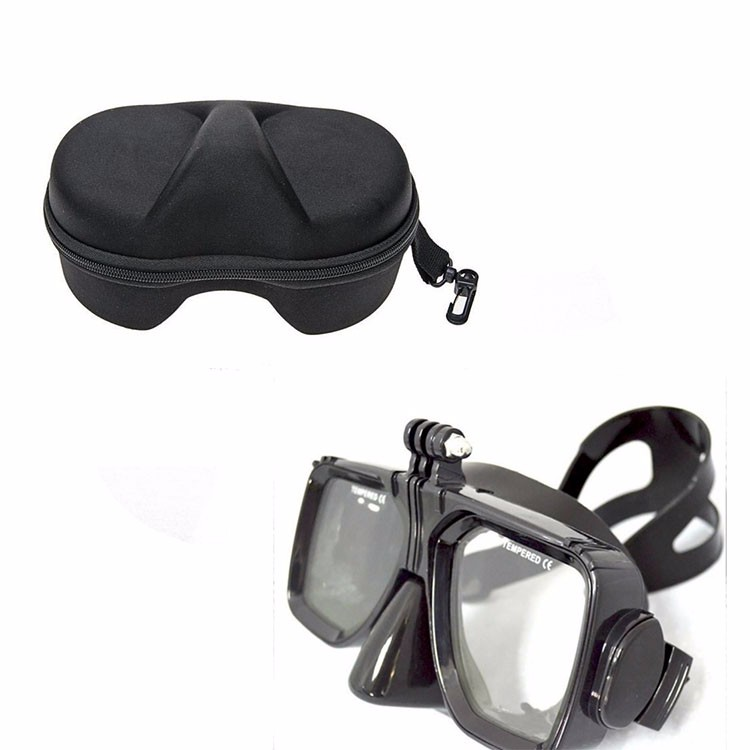 For Gopro Diving underwater Mask Black liquid silicone with Case Box For Go pro XIAO MI
