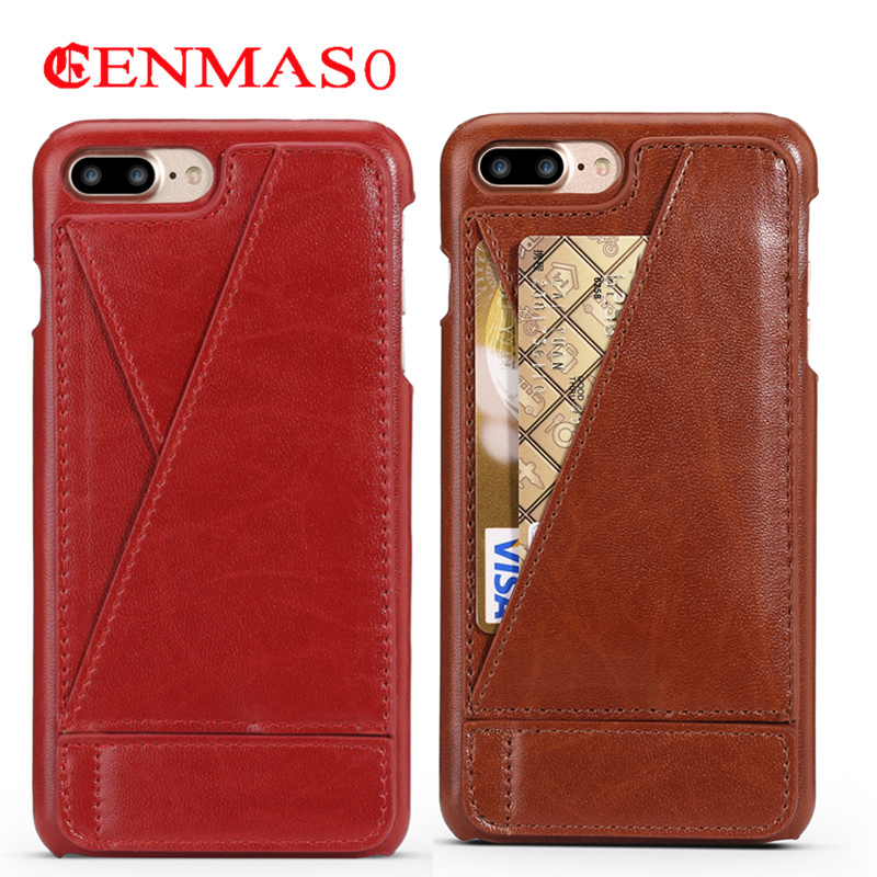 For Iphone 7 8 Plus Case Back Cover Wallet Card Slot Phone Case for Iphone 7plus 8plus Case Funda Capa with Stand Function