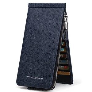 Image 3 - WILLIAMPOLO 男性財布本革カードホルダー銀行クレジットカード ID ホルダーブランド大容量の高級カードケース