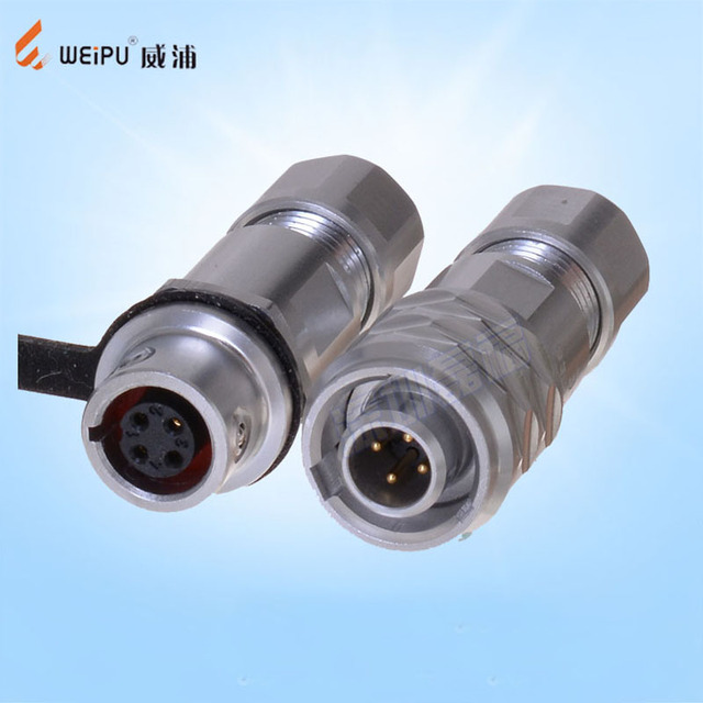 Original Weipu SF6 Connector SF6 2 3 4 5 Pin Male Cable Plug Female In-Line Cable Connector Socket SF610/P SF611/S