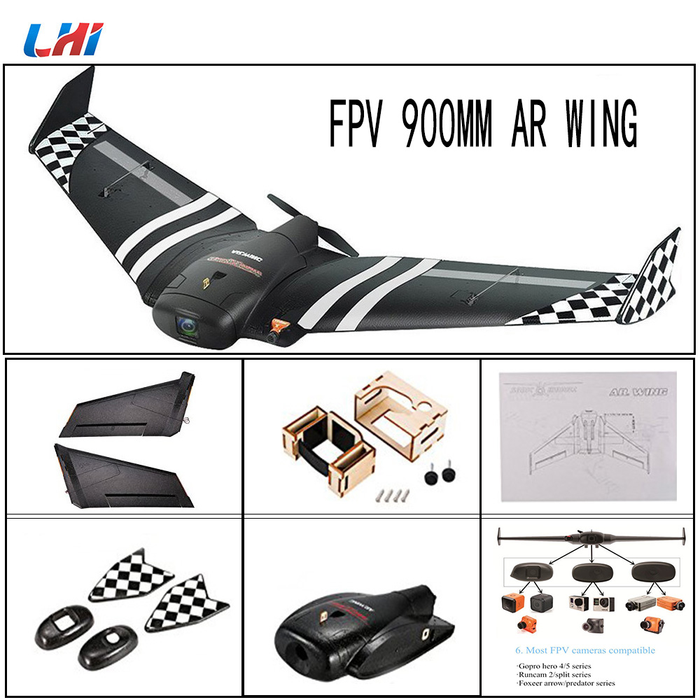 NEW TOP AR.Wing 900mm Wingspan EPP FPV Fly Wing Fixed Wing RC Airplane KIT RC Model Airc ...