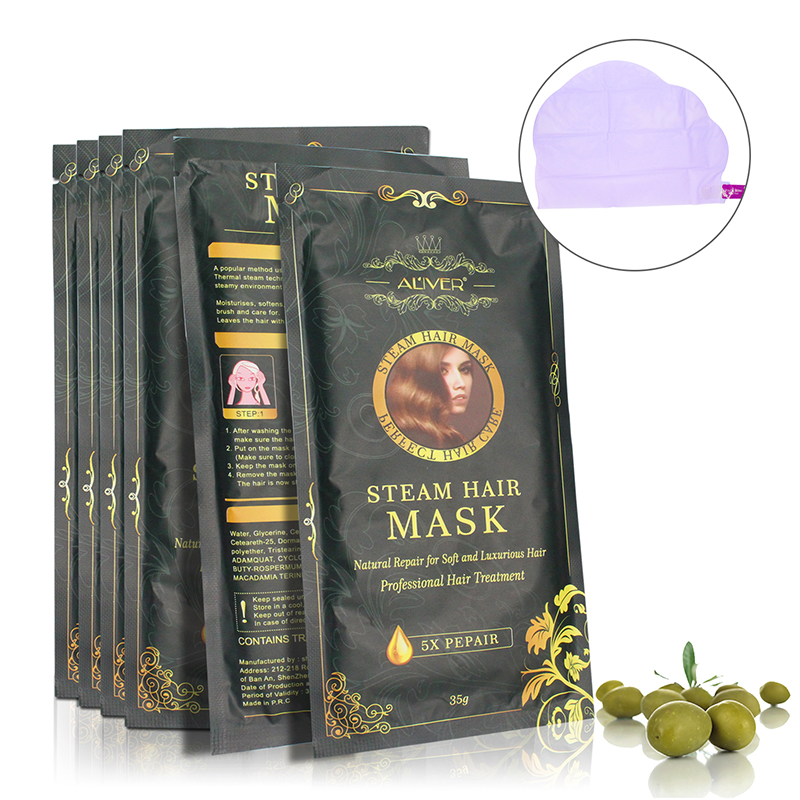 Aliver Automatic Heating Steam Hair Mask Keratin Argan Oil T
