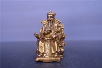 Chinese old bronzes God of wealth copper Statue