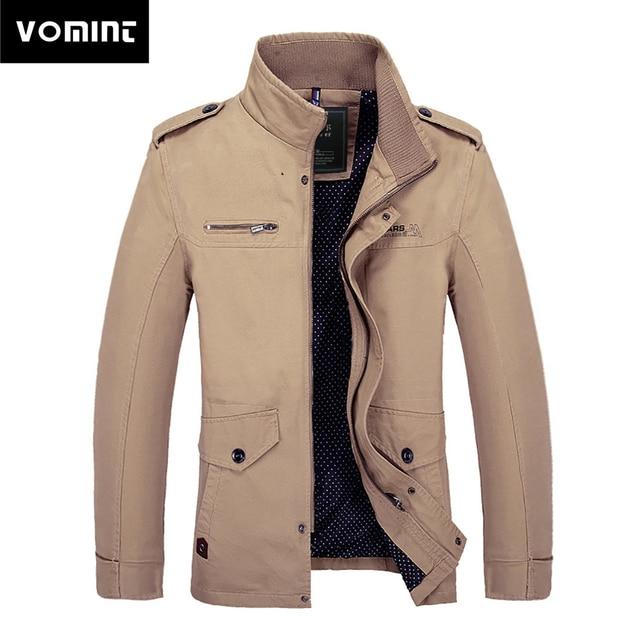 33318ca939a0f4 Vomint Neue Herbst herren Jacke Beiläufige Lange Gewaschen Baumwolle Zipper  Schnalle Jacke Männer Multi Taschen Mode Mantel