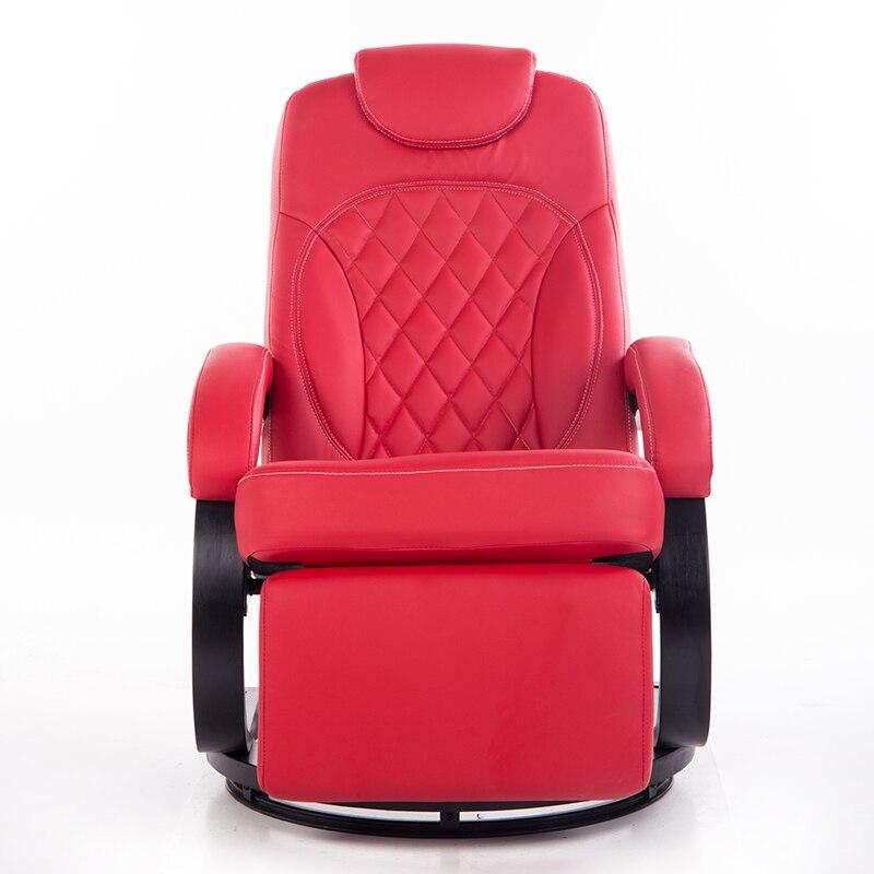 Gran leatehr Sala sillón giratorio ergonómico reclinable silla ...