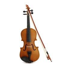 Deviser V-35 Spruce 1/2 1/4 Violin with Case Rosin Bow brige For Children