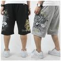 2017 summer men casual breathable multi-port bag shorts loose elastic waist bermuda masculina plus size 2xl- 5xl 6xl 7xl