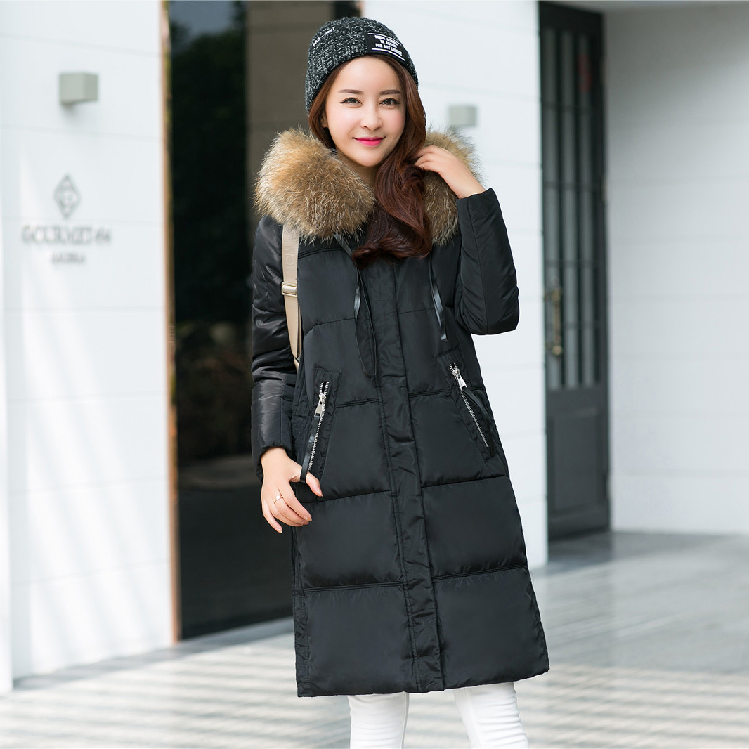 Women 39 s winter jacket casual fashion women thicken parka fur collar hooded female coat brand Fashion solitaire winter style