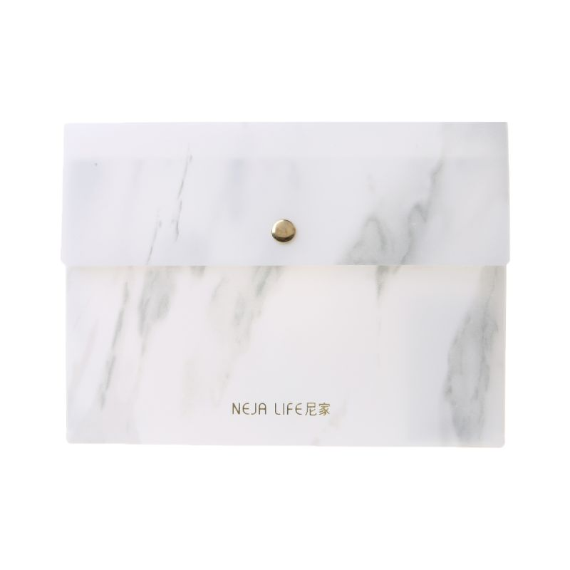 Portable A4//A5//B5 Marble Pattern PP File Folder Document Examination Paper Bag