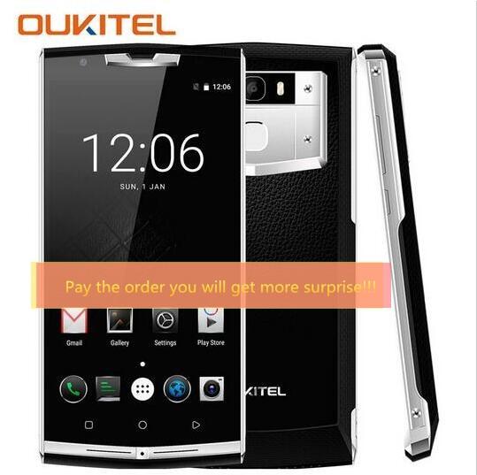 Original Oukitel K10000 PRO 10000mAh MTK6750T Octa Core 5.5'' Android 7.0 3GB RAM 32GB ROM 13MP Fingerprint ID 4G Lte Smartphone