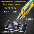 9H 0.33mm 2.5D Tempered Glass Film Screen Protector for Sony Xperia Z1 Z2 Z3 Z4 Z5 compact mini M2 M5 T2 T3 LT26i C3 E3 E4 C4 C5