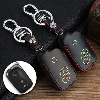 For Lexus RX LS LX GX GT 3 key buttons Smart Remote Zinc alloy and Leather Car protection key Cover Case Bag wallet car keychain Lexus RX