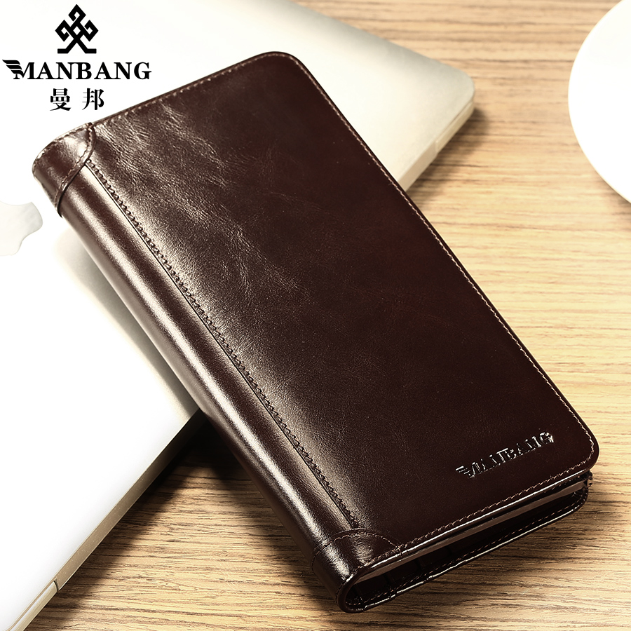 2017 New Brand Leather male Clutches font b wallet b font Fashion Designer Long font b