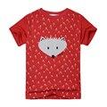 2016 Nueva Casual Boy camisetas de Manga Corta de Verano de Los Muchachos ropa patrón de dibujos animados camisetas para niños 2-7 años niños tops Tees