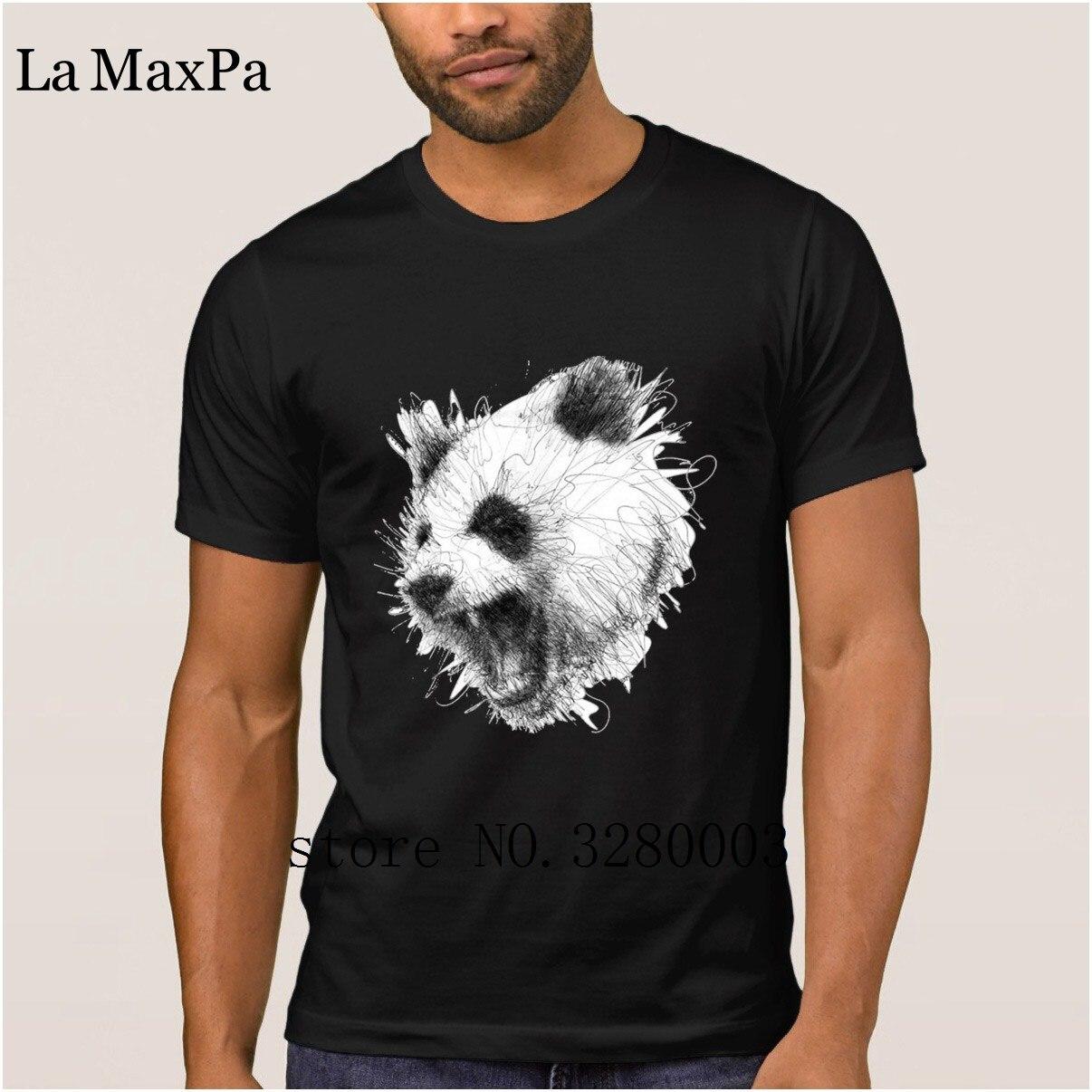 La maxpa лучших образцов Футболка мужская панда футболка для мужчин Летний стиль Оригинальная футболка мужская тонкий дешевые