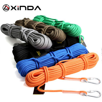 XINDA 10M Professional Rock Climbing Cord Outdoor Hiking Accessories Rope 9.5mm Diameter 2600lbs High Strength Cord Safety Rope 3