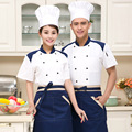 Hotel Housewife Cooking Uniform Restaurant Restaurant Cake Shop Chef Suit Short Sleeve Chef Uniform Work YF37