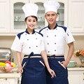 Hotel Uniforme de Cocina Ama de Casa Restaurante Restaurante Pastelería Cocinero Traje de Cocinero Manga Corta ropa de Trabajo Uniforme YF37