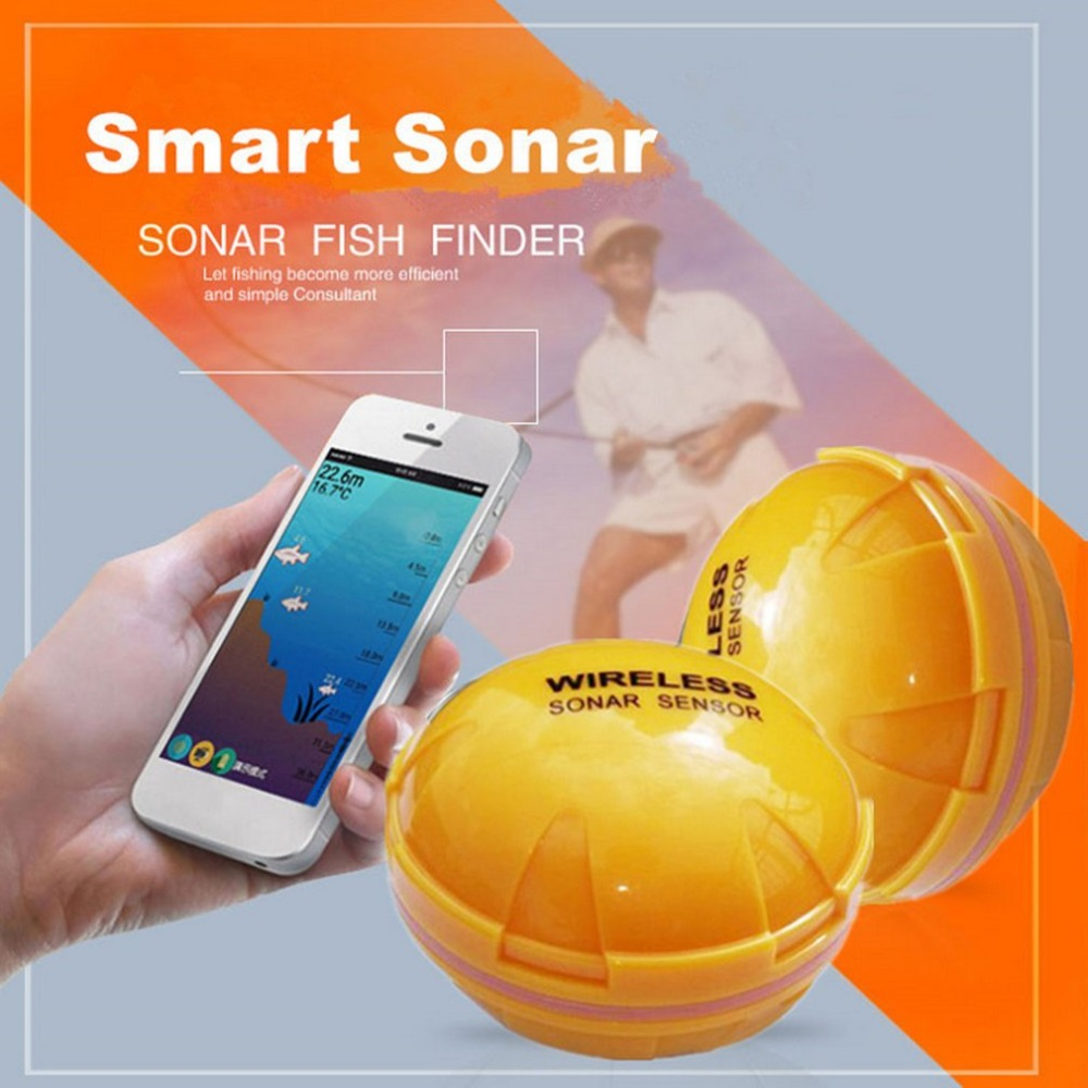 TL95 Mobile Phone APP Fish Finder Portable Sonar Fish Finder Bluetooth Wireless Depth Sea Lake Fish Detect Fish Finder