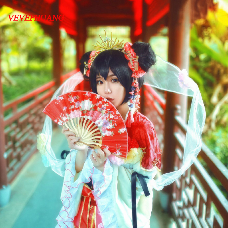 VEVEFHUANG LoveLive! Love Live Cosplay Wig Nico Yazawa Costume Play Adult Wigs Halloween Anime Hair