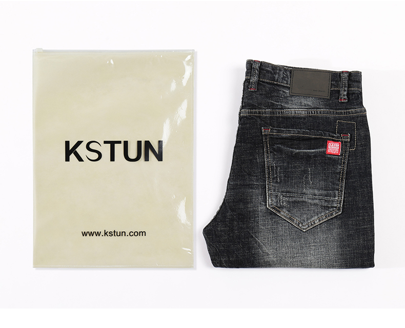 KSTUN Mens Jeans Slim Straight Elastic Casual Fashion Pockets Streetwear High Quality Men Denim Pants Jeans Hombre Big Size 40 20