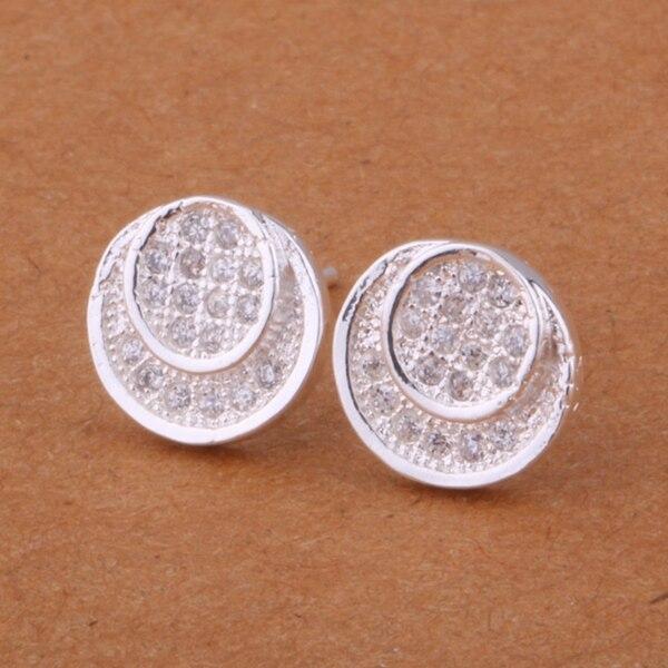 Plata Esterlina 925 Y Turquesa incrustación 9mm redondo Aretes Pernos Pendiente