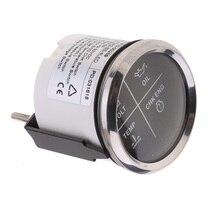 52mm 4 LED Alarm Gauge Meter Volt Oil Pressure Water Temperature Engine Alarm 9-32 V With Backlight For BMW Auto Boat Yacht