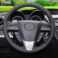 BANNIS Genuine Leather Car Steering Wheel Cover for Mazda 3 Axela 2008 2013 Mazda CX 7 CX7 2010 16 Mazda 5 2011 2013