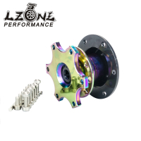 LZONE RACING New NEO CHROME Universal Style Steering Wheel Quick Release Boss Kit JR3859CR