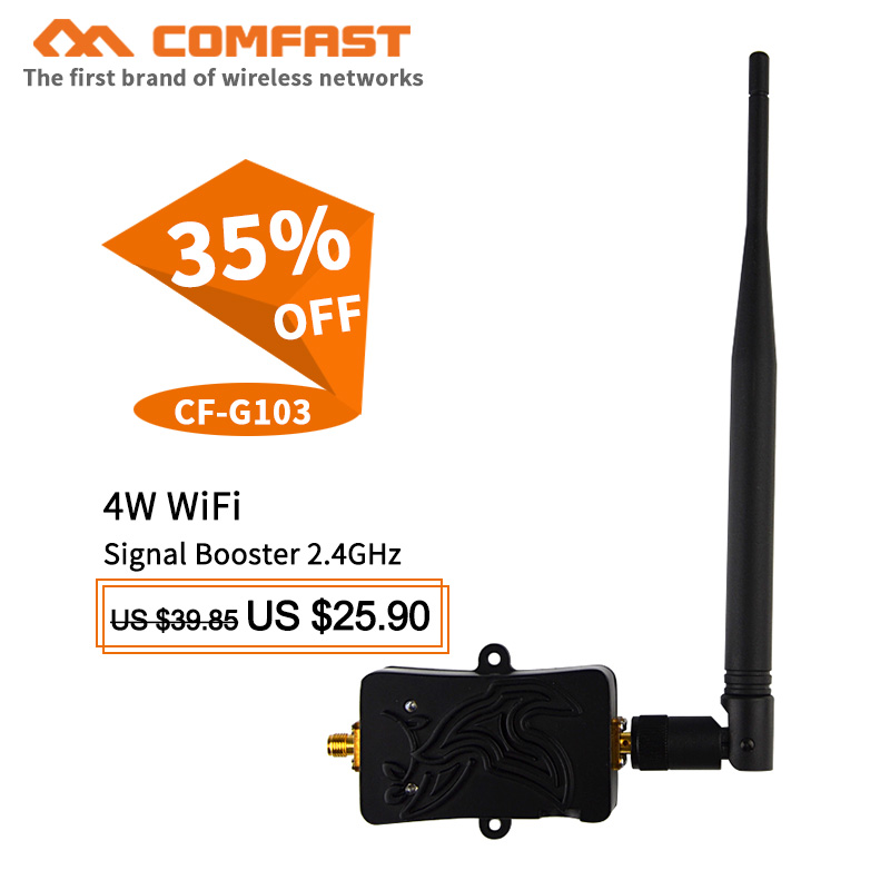 4W 36dBm High Power Range Signal Booster Wifi Wireless Broadband Amplifier Repeater For Wireless AP Wifi Router Signal Stronger