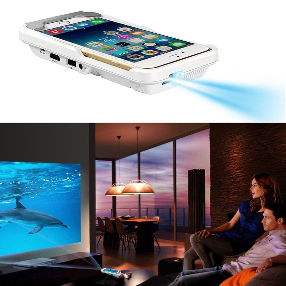 Mini dlp mobile cinema home theater led portable projector for Iphone 6 projector price