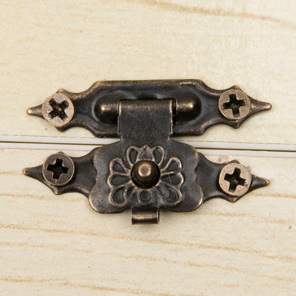10pcs/set Vintage Fittings Furniture Jewellery Wooden Box Cabinet Suitcase Lock Hook Lid Latch Bronze Tone reseda shaykhnurova buried jewellery box