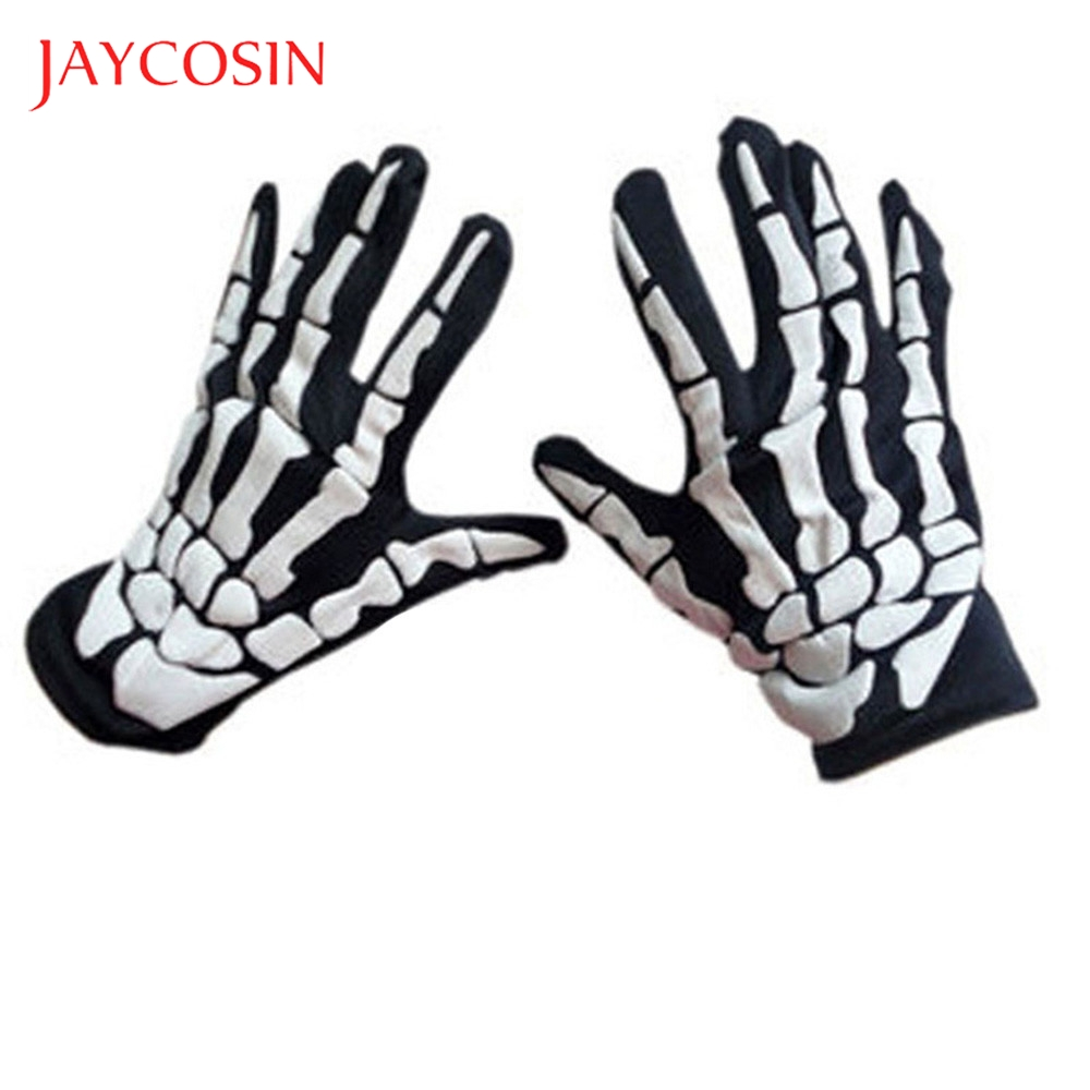 JAYCOSIN Claw Bone Skeleton Horror Skull Goth Racing Full Gloves Halloween