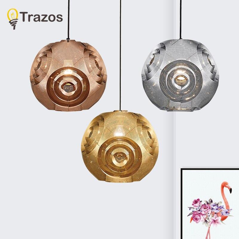 Здесь можно купить  TRAZOS 220V LED Pendant Lights For Dining Lampadario Vintage Wooden Pendant Lamp Restaurant Luminaria Indoor Round Light Fixture  Свет и освещение