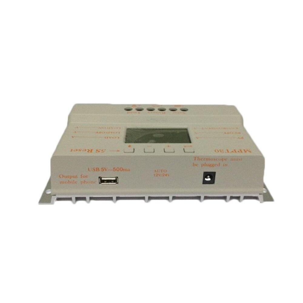 Image 2 - 10 pces, lotes mppt 30a mppt 30 controlador de carga solar 12 v 24 v trabalho automático com display lcd atacadodisplay poledisplay handcontrol v -