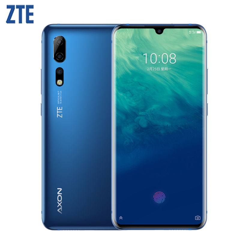 "ZTE Axon 10 Pro Cell Phone 6.47"" Flexible Curved Water Drop Screen 6G RAM 128GROM Snapdragon 855 Octa-core 4G LTE Smartphone"
